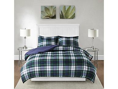Parkston Navy 3 Piece Twin Comforter Set, , large