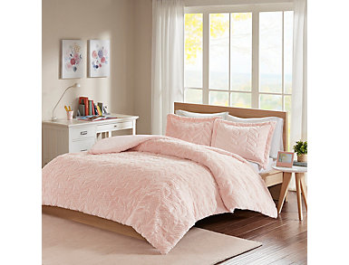 Laila Chevron 3 Piece Twin Comforter Set, , large