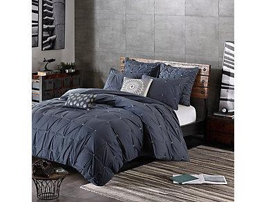 Masie Navy 3 Piece Full/Queen Comforter Set, , large