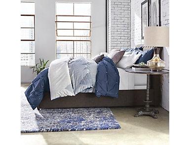 Masie Navy 3 Piece King Comforter Set, , large