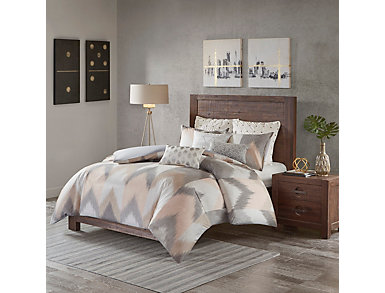 Alpine Blush 3 Piece Full/Queen Comforter Set, , large