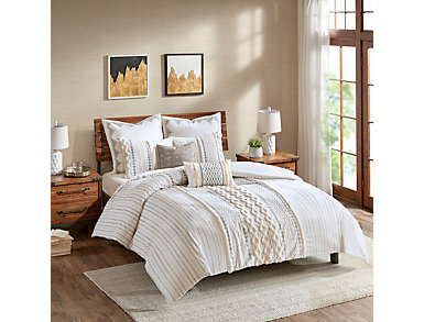 Imani 3 Piece Full/Queen Comforter Set, , large