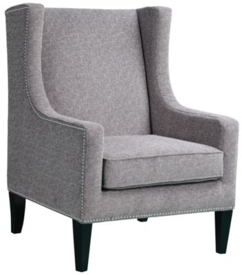 Barton Wingback Chair, Grey, swatch
