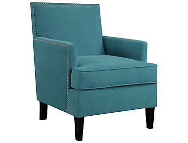 Colton Accent Chair, Blue, Blue, large