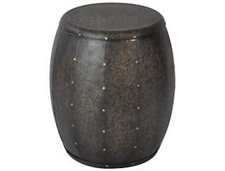 Cirque Metal Accent Drum Table, Bronze, , large
