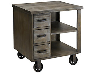 Cirque Accent End Table, Grey, , large
