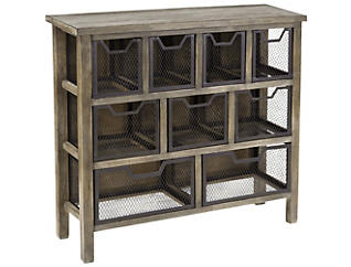 Cirque Accent Metal Bin Table, Grey, , large