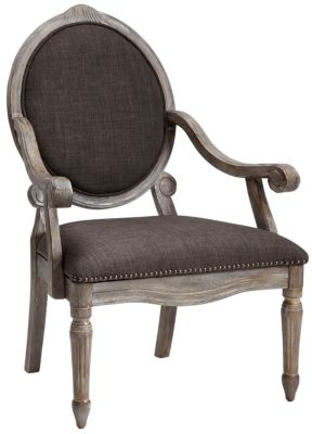 Brentwood Exposed Wood Chair, Grey, swatch