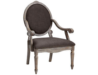 Brentwood Exposed Wood Chair, Grey, , large