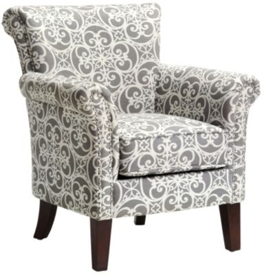 brooke grey accent chair