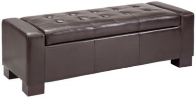 Mirage Storage Ottoman, Brown, swatch