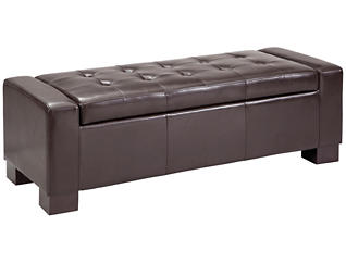 Mirage Storage Ottoman, Brown, large