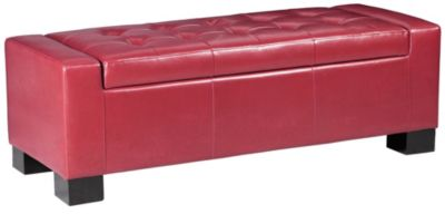 Mirage Storage Ottoman, Red, swatch
