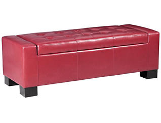 Mirage Storage Ottoman, Red, large
