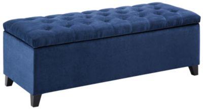... Sandra Storage Ottoman, Blue, Swatch