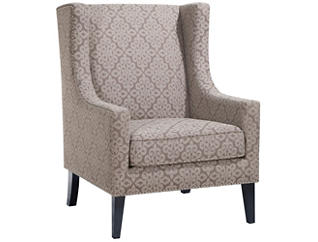 Barton Wingback Chair, Beige, large