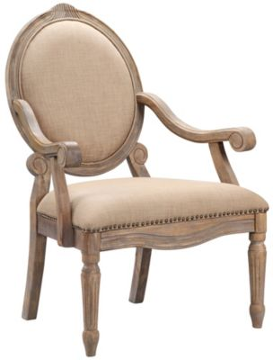 Brentwood Exposed Wood Chair, Cream, swatch