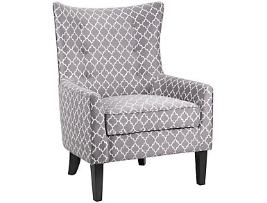 Carissa Accent Chair, Grey, , large