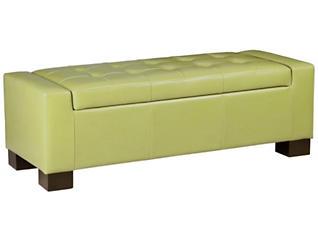 Mirage Storage Ottoman, Green, large