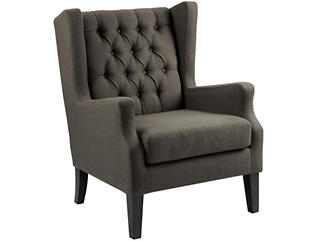 Maxwell Grey Tufted Chair, , large
