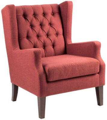 Maxwell Tufted Chair, Red, swatch