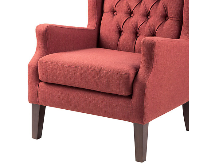 Maxwell Red Tufted Chair, , large