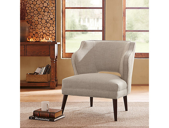 Elin Open Back Accent Chair Beige Large