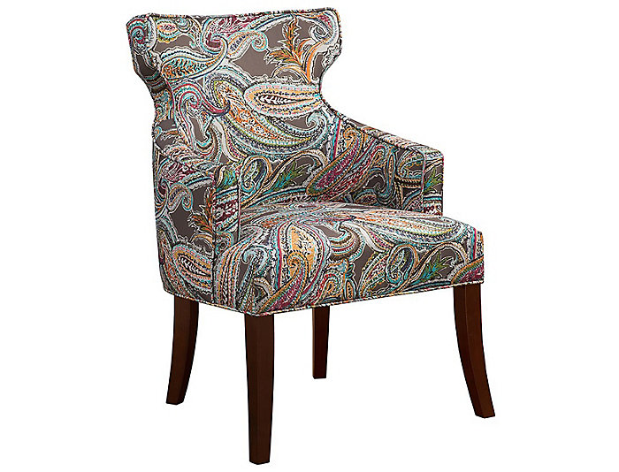 Phenomenal Renata Notchback Accent Chair Multicolor Complete Home Design Collection Barbaintelli Responsecom