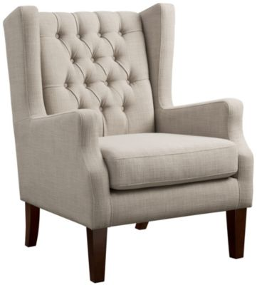Maxwell Tufted Chair, Beige, swatch