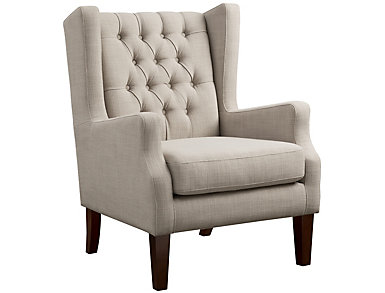 Maxwell Tufted Chair, Beige, Beige, large