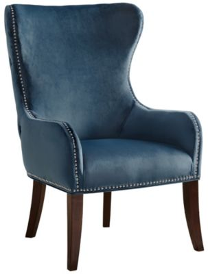 Hancock Wingback Chair, Blue, swatch