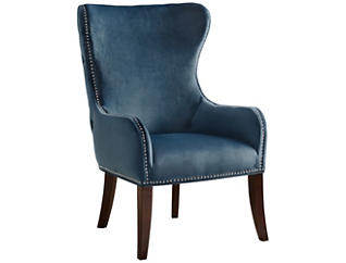 Hancock Wingback Chair, Blue, large