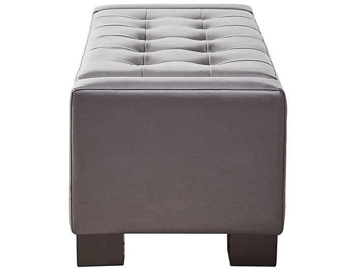 Mirage Storage Ottoman, Grey, Grey, large