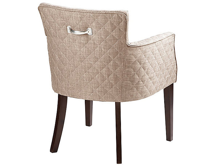 Quilted Cream Dining Chair, , large