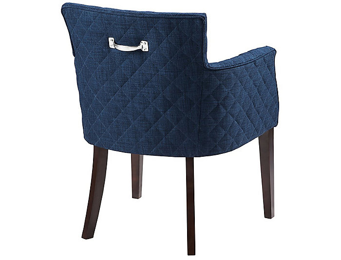 Quilted Navy Dining Chair, , large