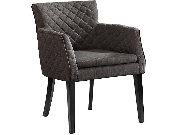 Quilted Charcoal Dining Chair, , large