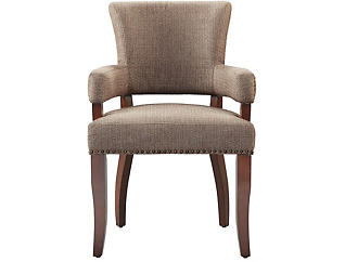 Nailhead Arm Dining Chair, , large