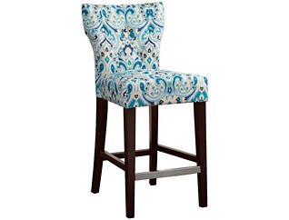 Blue Hourglass Counter Stool, , large
