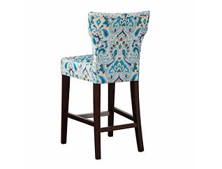 Blue Hourglass Counter Stool, Blue, large
