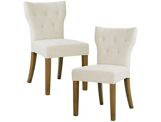 Cream Hourglass Chair Set of 2, , large