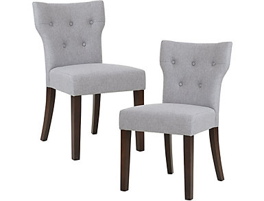 Grey Hourglass Chair Set of 2, , large