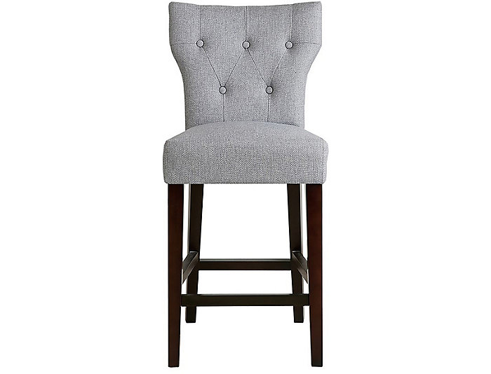 Grey Hourglass Counter Stool, , large