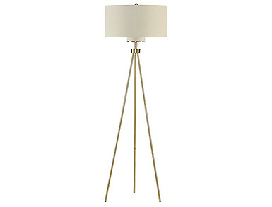 Pacific Gold Tripod Floor Lamp, , large