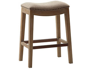 Linen Saddle Counter Stool, , large