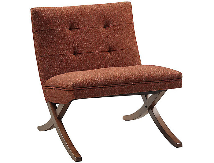 Lucille Armless Chair, Orange, , large