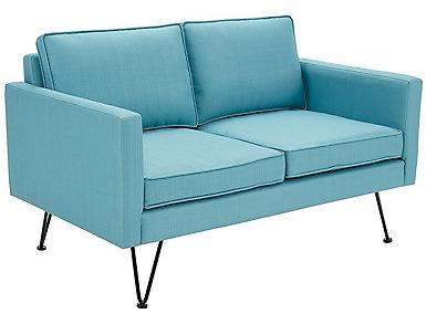 Bran Lounge Loveseat, Blue, , large