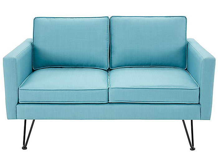 Bran Lounge Loveseat, Blue, , large