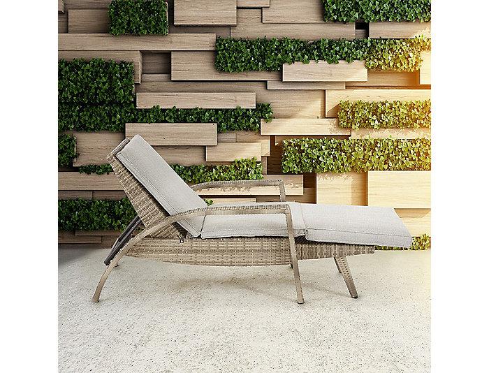 Bronn Lounge Chaise, Beige, , large