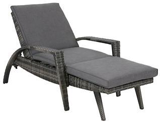 Bronn Grey Lounge Chaise, , large