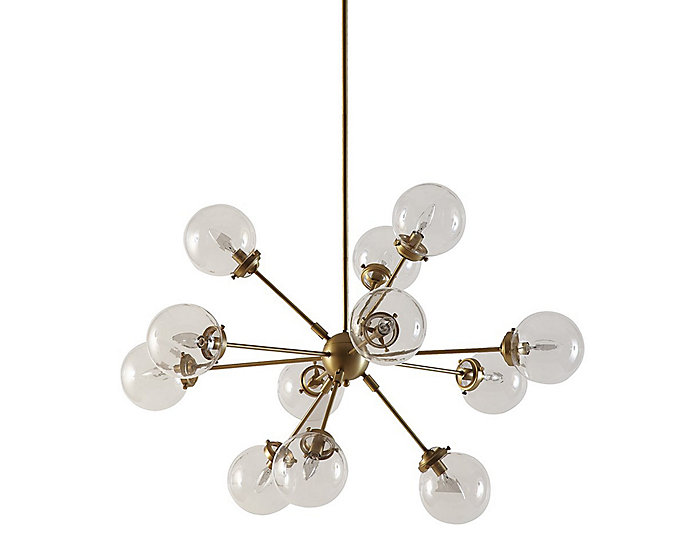 Paige Antique Brass Chandelier, , large
